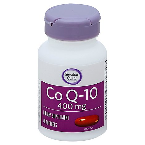 Signature Care Co Q10 400mg Dietary Supplement Softgels - 40 Count
