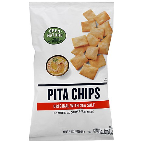 Open Nature Original Pita Chips with Sea Salt - 18 Oz.