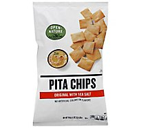 Open Nature Pita Chips Original With Sea Salt - 18 Oz