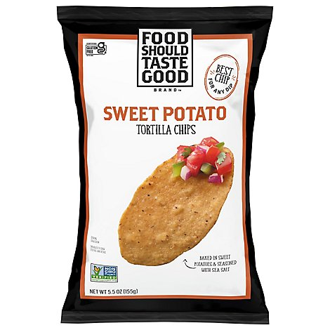 Food Should Taste Good Tortilla Chips Sweet Potato - 5.5 Oz