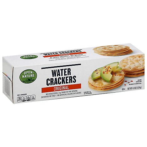 Open Nature Crackers Water Original - 4.4 Oz