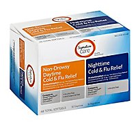 Signature Care Cold & Flu Relief Daytime & Nighttime Softgel - 48 Count