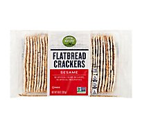 Open Nature Crackers Flatbread Sesame - 10 Oz
