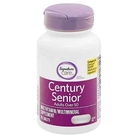 Signature Care Century Mature Dietery Supplement Adults Over 50 Dietary - 125 Count