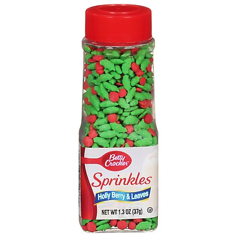 Betty Crocker Decorating Decors Holly Berry And Leaves - 1.3 Oz
