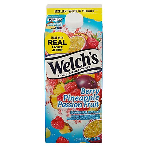 Welchs Berry Pineapple Passion Fruit Cocktail Chilled - 59 Fl. Oz.
