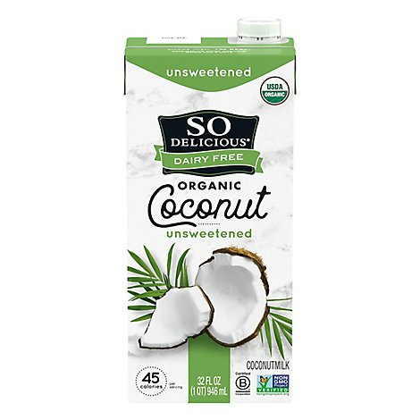 So Delicious Dairy Free Coconut Milk Organic Unsweetened - 32 Fl. Oz.