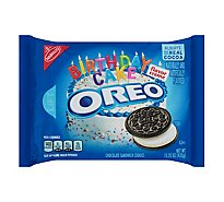 OREO Cookies Sandwich Chocolate Birthday Cake Flavor Creme - 15.25 Oz