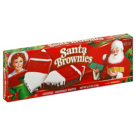Little Debbie Brownies Santa - 9.71 Oz