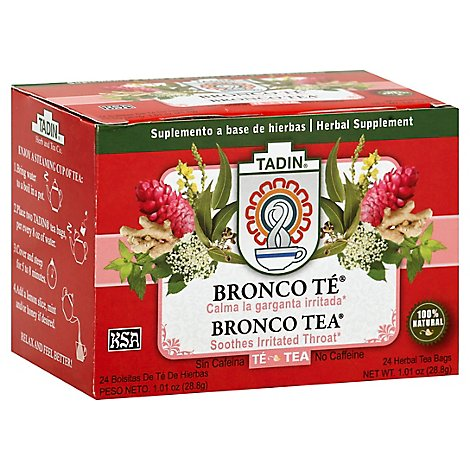 TADIN Herbal Tea No Caffeine Bronco - 24 Count