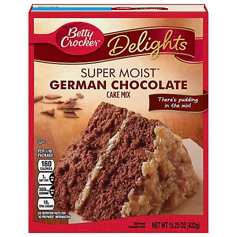 Betty Crocker Cake Mix Super Moist Delights German Chocolate - 15.25 Oz