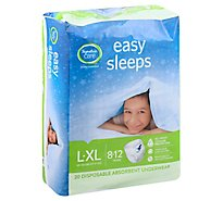 Signature Care Easy Sleeps Disposable Underwear Absorbent Boys L To XL - 20 Count