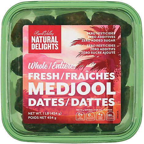 Bard Valley Natural Delights Dates Medjool - 16 Oz