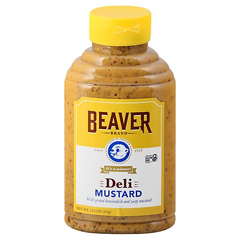 BEAVER Mustard Deli With Grated Horseradish Roots - 12.5 Oz.