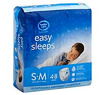Signature Care Easy Sleeps Disposable Underwear Absorbent Boys S To M - 26 Count