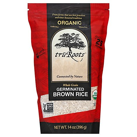 truRoots Organic Rice Brown Germinated Whole Grain - 14 Oz