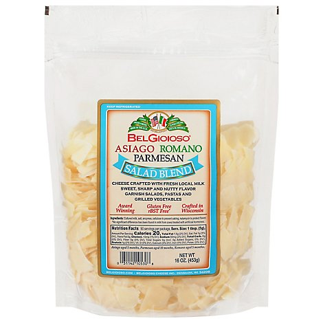 BelGioioso Cheese Salad Blend Italian Large Bag - 16 Oz