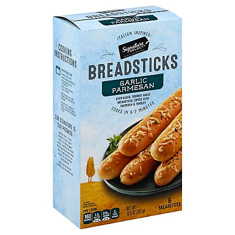 Signature SELECT Breadsticks Garlic Parmesan 6 Count - 10.5 Oz
