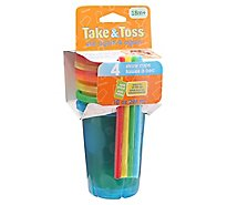The First Years Take & Toss Cup Learning Curve With Straw - 5-10 Oz
