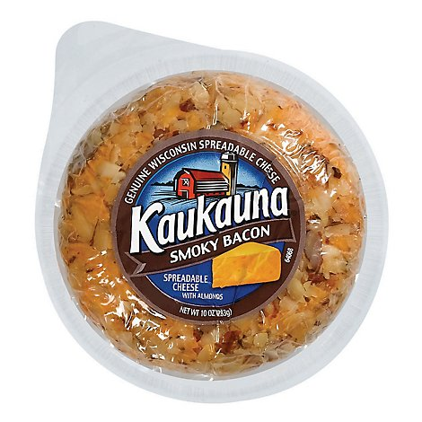 Kaukauna Smoky Bacon Spreadable Cheese Ball 10 oz