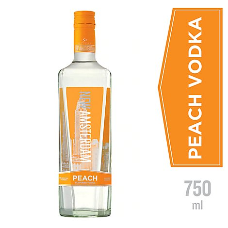 New Amsterdam Vodka Five Times Distilled Flavored Peach 70 Proof - 750 Ml