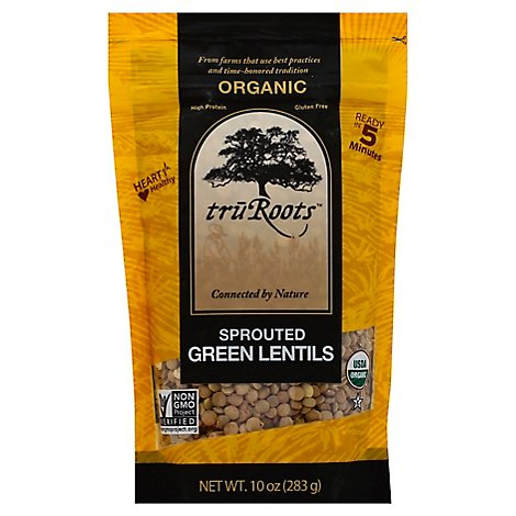 truRoots Organic Lentils Green Sprouted - 10 Oz