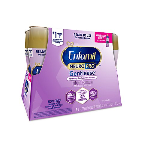 Enfamil Gentlease Infant Formula Milk-Based with Iron Through 12 Months - 6-8 Fl. Oz.