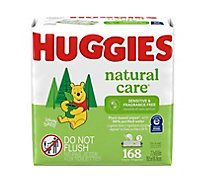Huggies Natural Care Sensitive Baby Wipes Unscented Fliptop Packs - 3-56 Count