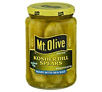 Mt. Olive Pickles Spears Kosher Dill Made with Sea Salt - 24 Fl. Oz.