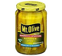 Mt. Olive Pickles Sandwich Stuffers Kosher Dill Made with Sea Salt - 24 Fl. Oz.