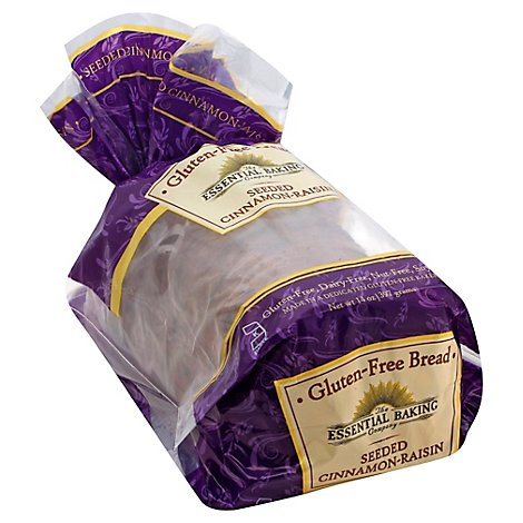 The Essential Baking Company Bread Gluten Free Sliced Seeded Cinnamon Raisin - 14 Oz