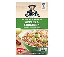 Quaker Oatmeal Instant Apples & Cinnamon - 10-1.51 Oz