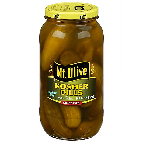 Mt. Olive Pickles Kosher Dills - 80 Fl. Oz.