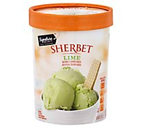 Signature SELECT Sherbet Key Lime Low Fat - 1.5 Quart
