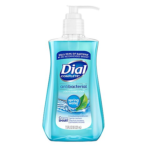 Dial Hand Soap Liquid With Moisturizer Antibacterial Spring Water - 7.5 Fl. Oz.