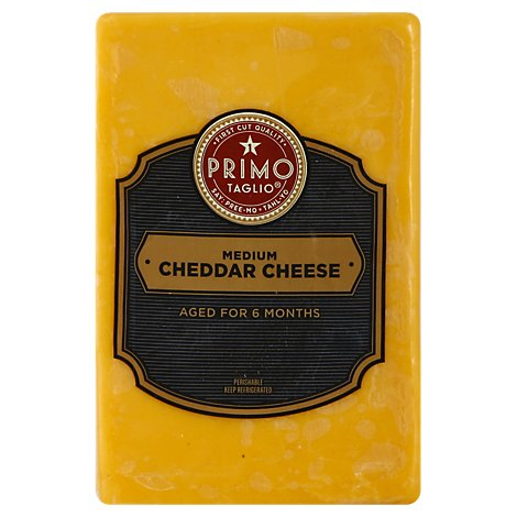 Primo Taglio Medium Cheddar Cheese - 0.50 Lb.