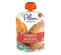 Plum Organics Organic Baby Food 1 (4 Months & Up) Just Sweet Potato - 3 Oz