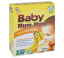 Baby Mum-Mum Rice Rusks Banana 26 Count - 1.90 Oz
