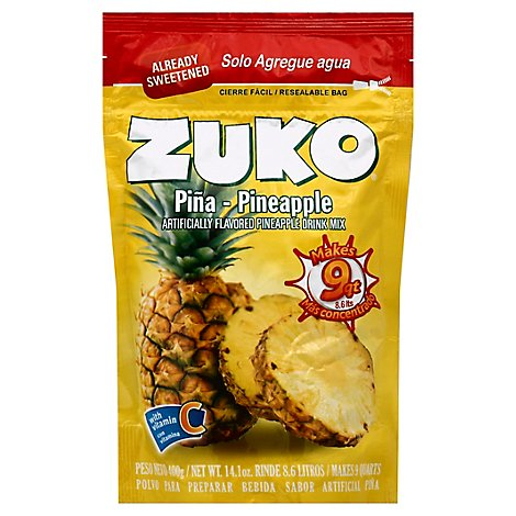 Zuko Drink Mix Pineapple - 14.1 Oz
