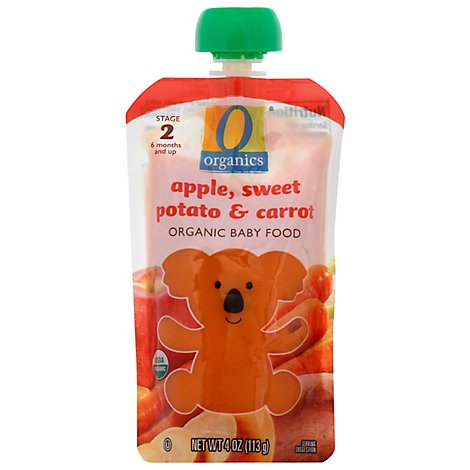 O Organics Organic Baby Food Stage 2 Apple Sweet Potato & Carrot - 4 Oz