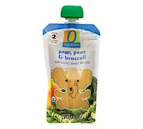 O Organics Organic Baby Food Stage 2 Pears Peas & Broccoli - 4 Oz