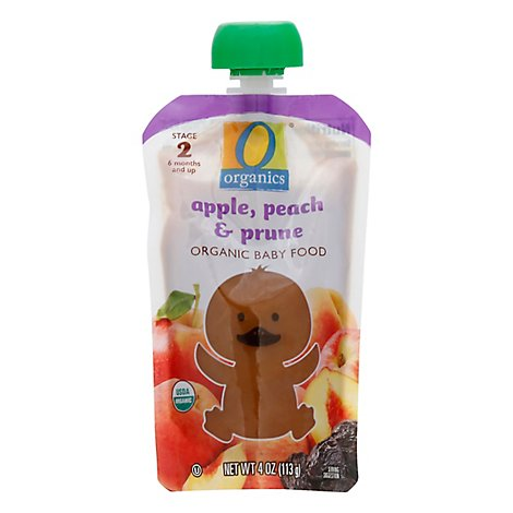 O Organics Organic Baby Food Stage 2 Apple Peach & Prune - 4 Oz