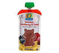 O Organics Organic Baby Food Stage 2 Banana Blueberry & Beet - 4 Oz