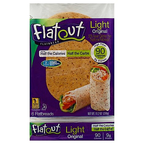 Flatout Flatbread Light Original - 6 Count