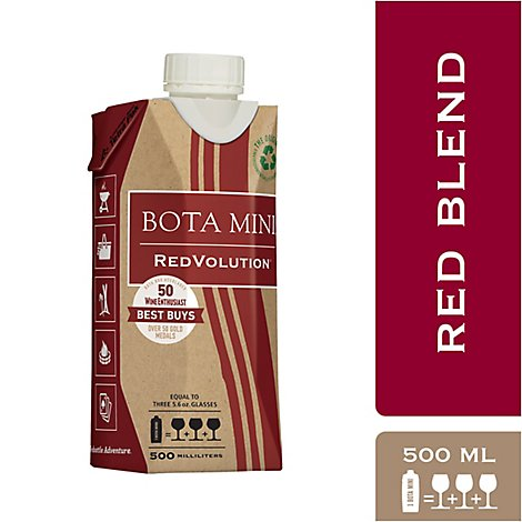 Bota Box Wine RedVolution Red Blend Tetra Pak - 500 Ml