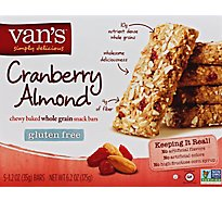 Vans Snack Bars Chewy Cranberry Almond - 6.2 Oz