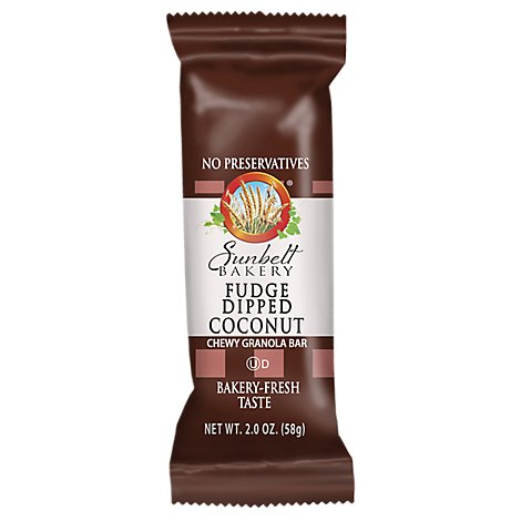 Sunbelt Bakery Fudge Dipped Coconut Granola Bar - 2 Oz