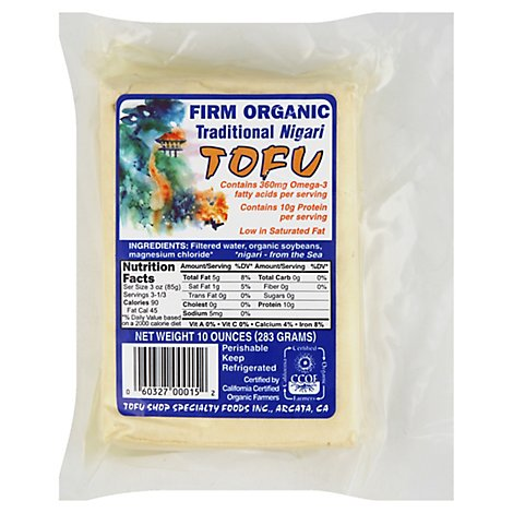 Tofu Nigari Traditional Firm Organic - 10 Oz