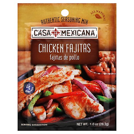 CASA MEXICANA Authentic Seasoning Mix Chicken Fajitas - 1 Oz
