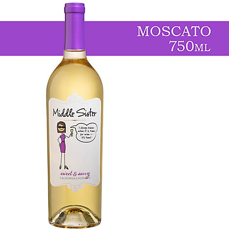 Middle Sister Wine Moscato Sweet & Sassy California - 750 Ml